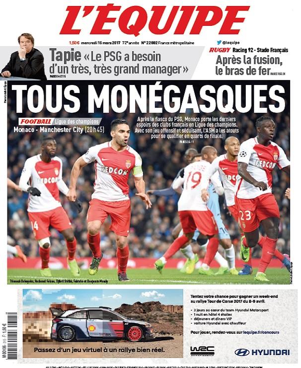 télécharger L'Equipe Du Mercredi 15 Mars 2017