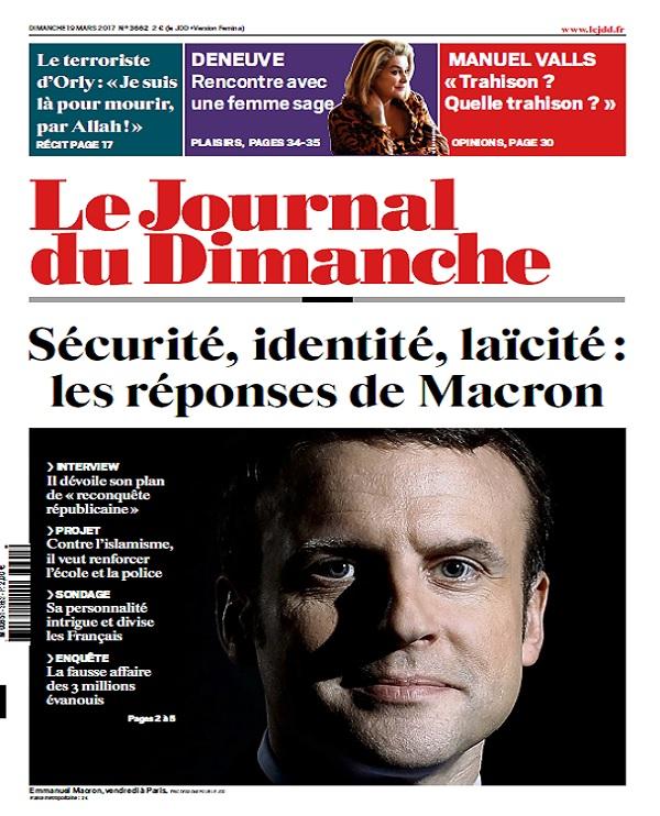 Le Journal Du Dimanche N°3662 Du 19 Mars 2017