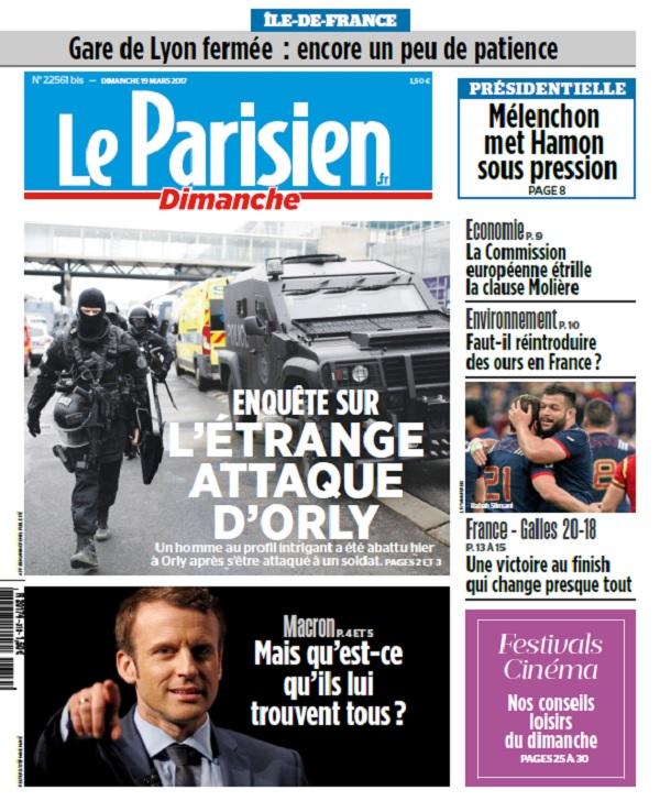 télécharger Le Parisien Du Dimanche 19 Mars 2017