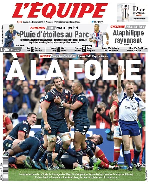 télécharger L'Equipe Du Dimanche 19 Mars 2017