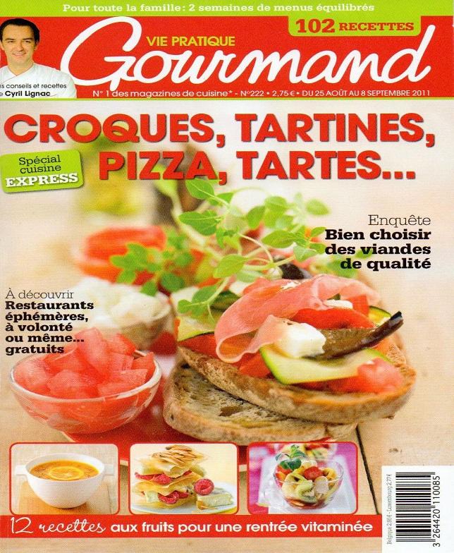 télécharger Vie Pratique Gourmand N°222 - Croques, Tartines, Pizza, Tartes