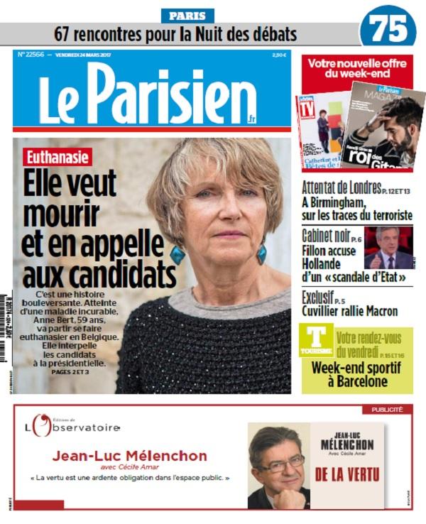 télécharger Le Parisien + Journal De Paris + Magazine Du Vendredi 24 Mars 2017