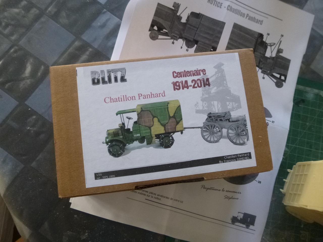 Camion Chatillon Panhard 1917 - résine de chez Blitz au 1/35 170327032955569873