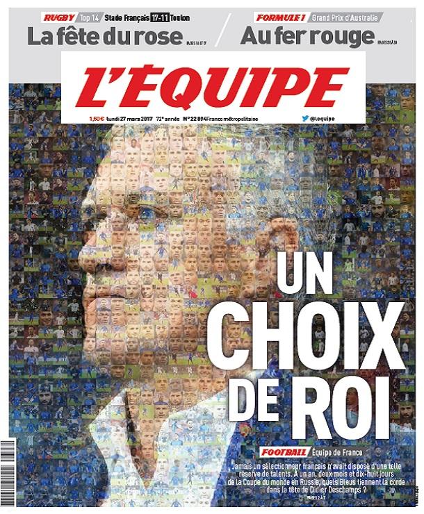 télécharger L'Equipe Du Lundi 27 Mars 2017