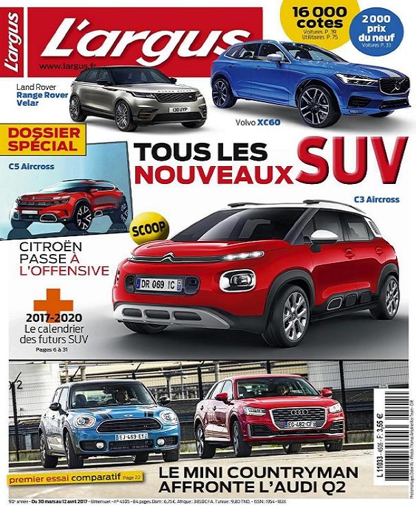 télécharger L'Argus N°4505 Du 30 Mars au 12 Avril 2017