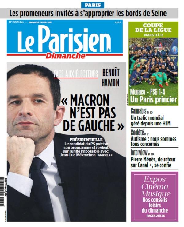télécharger Le Parisien Dimanche + Supplément Ile De France Du 2 Avril 2017