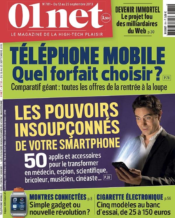 télécharger 01Net N°781 - Téléphone Mobile : Quel Forfait Choisir ?