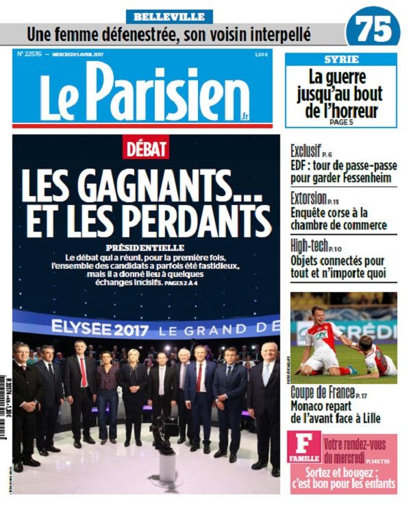 télécharger Le Parisien + Journal De Paris Du Mercredi 5 Avril 2017