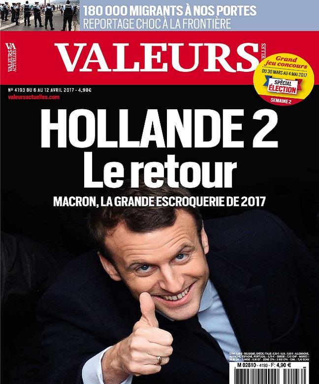 télécharger Valeurs Actuelles N°4193 Du 6 au 12 Avril 2017