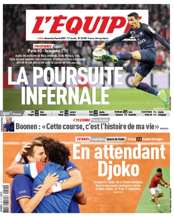 télécharger L'Equipe Du Dimanche 9 Avril 2017