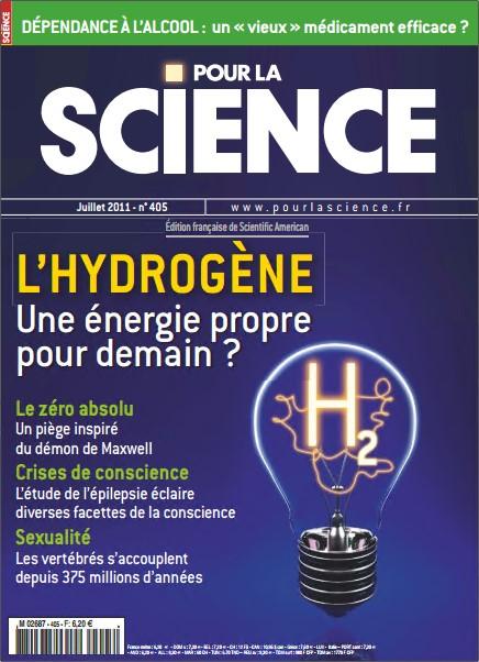 Pour la Science N°405 - L'hydrogène : Une énergie propre pour demain ?