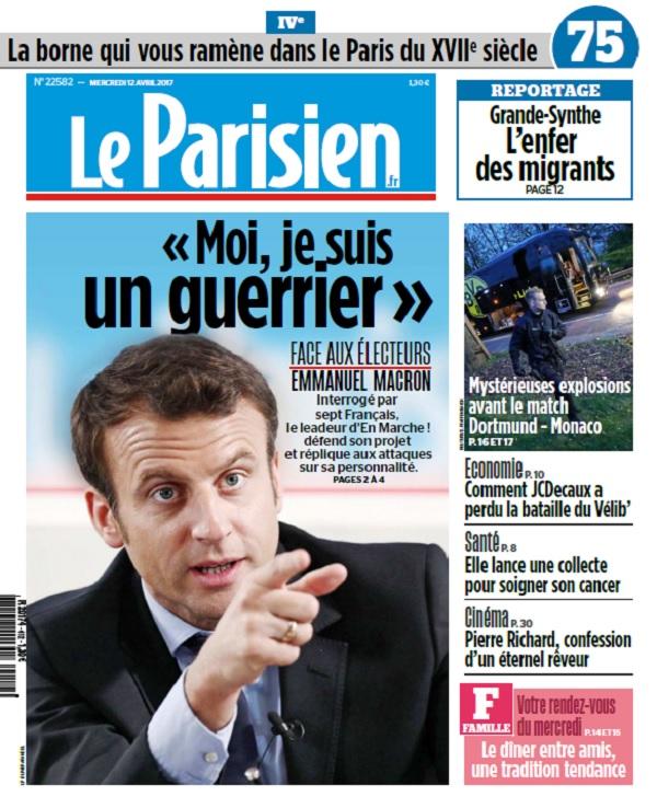 télécharger Le Parisien Du Mercredi 12 Avril 2017
