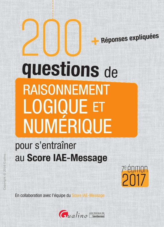 télécharger 200 questions de raisonnement logique et numérique 2017