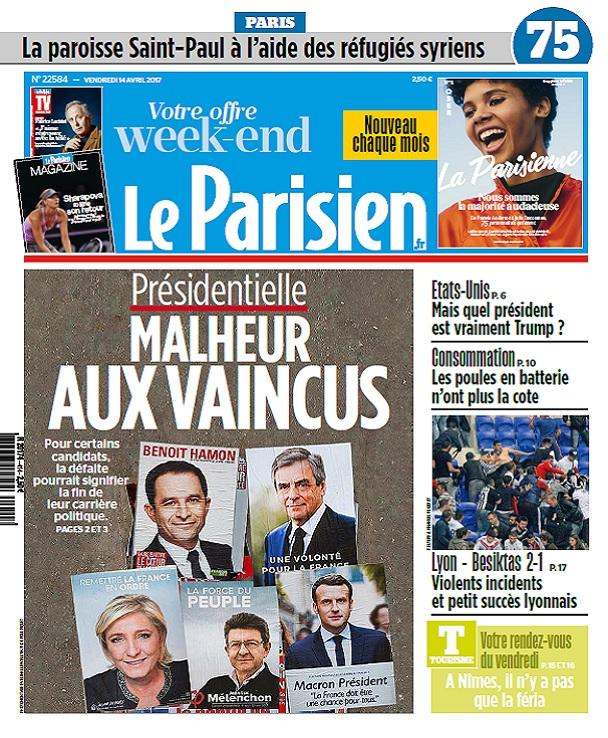 télécharger Le Parisien + Journal De Paris + Magazine Du Vendredi 14 Avril 2017
