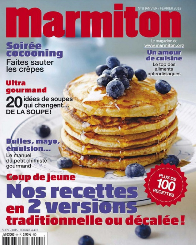 Marmiton N  9   Nos recettes en 2 versions   traditionnelle ou décalée