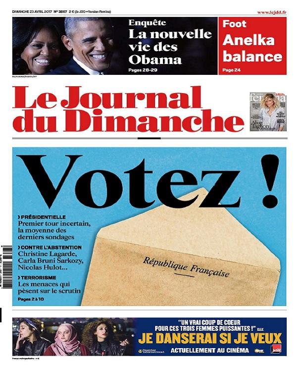 Le Journal Du Dimanche N°3667 Du 23 Avril 2017