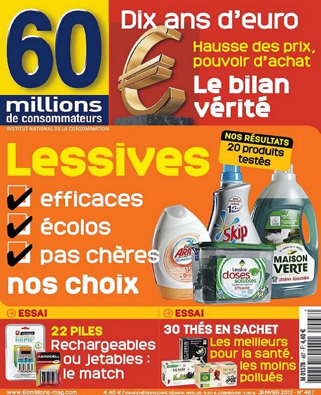 télécharger 60 Millions De Consommateurs N°467 - Lessives