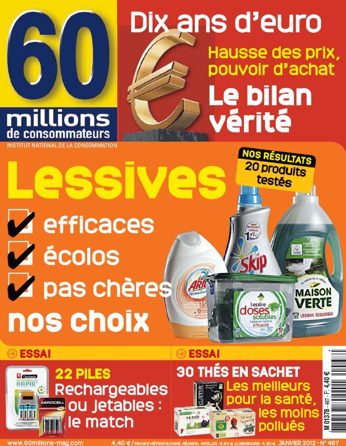 60 Millions de Consommateurs N°467 - Lessives