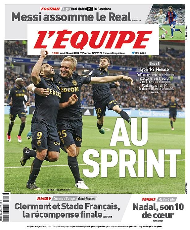 télécharger L'Equipe Du Lundi 24 Avril 2017