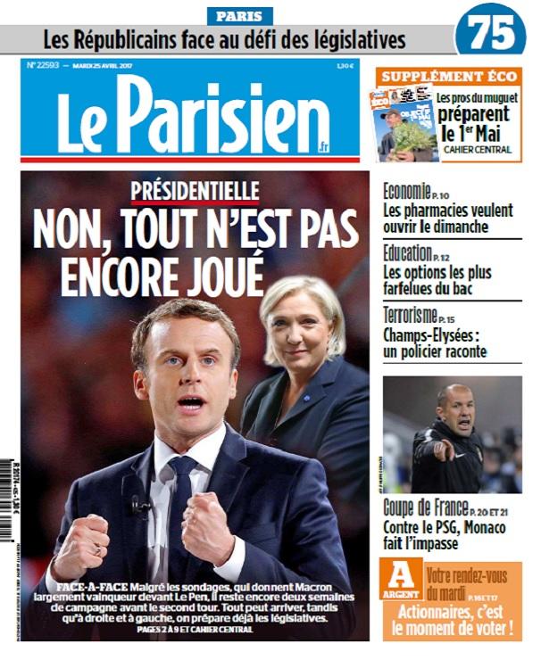 télécharger Le Parisien Du Mardi 25 Avril 2017