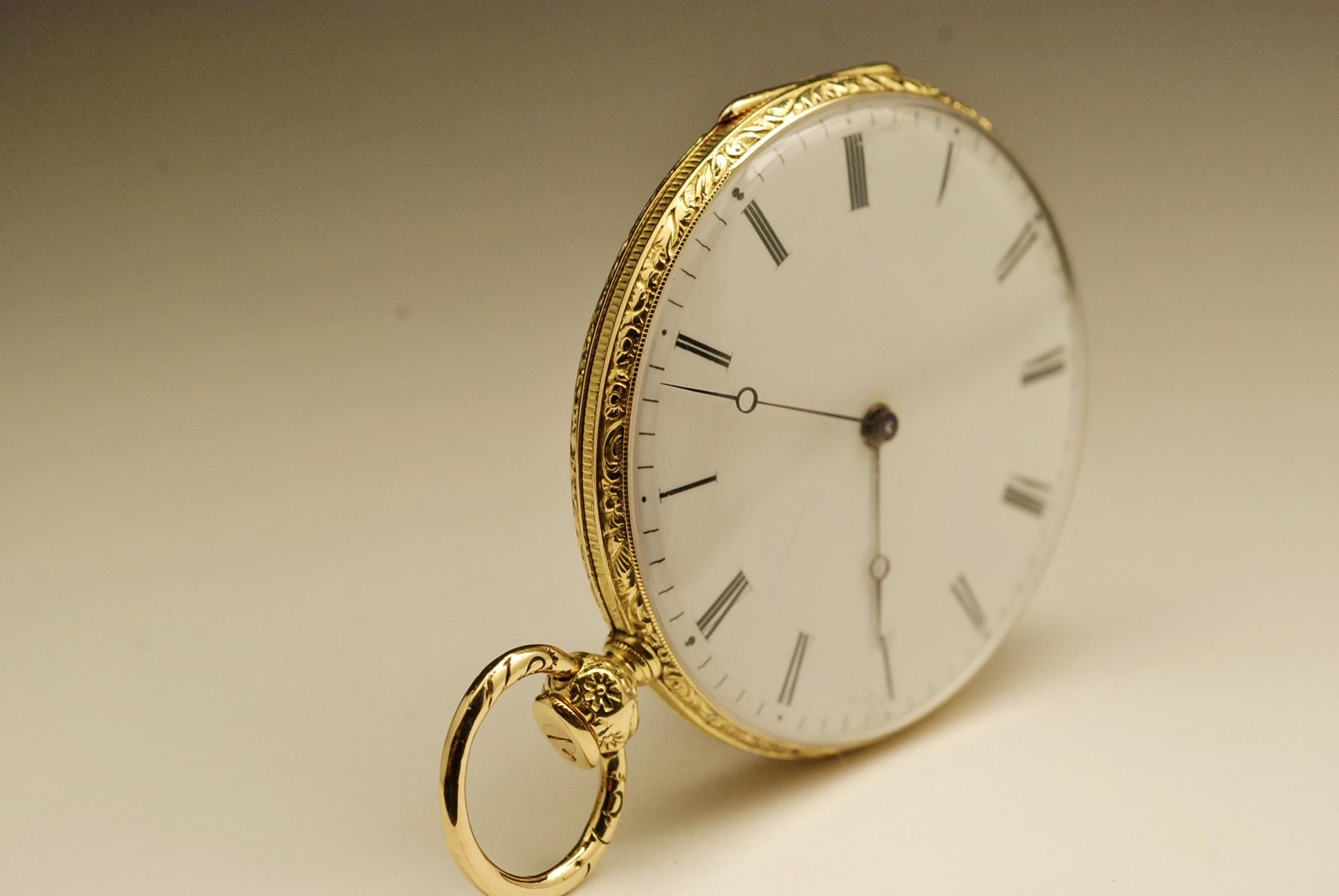 ancienne montre gousset r p tition sonnerie or 18k 1840. Black Bedroom Furniture Sets. Home Design Ideas
