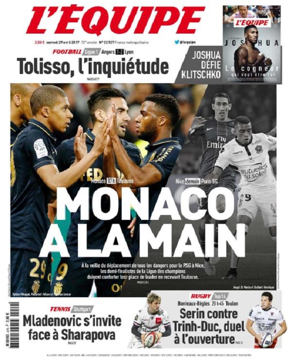 télécharger L'Equipe Du Samedi 29 Avril 2017