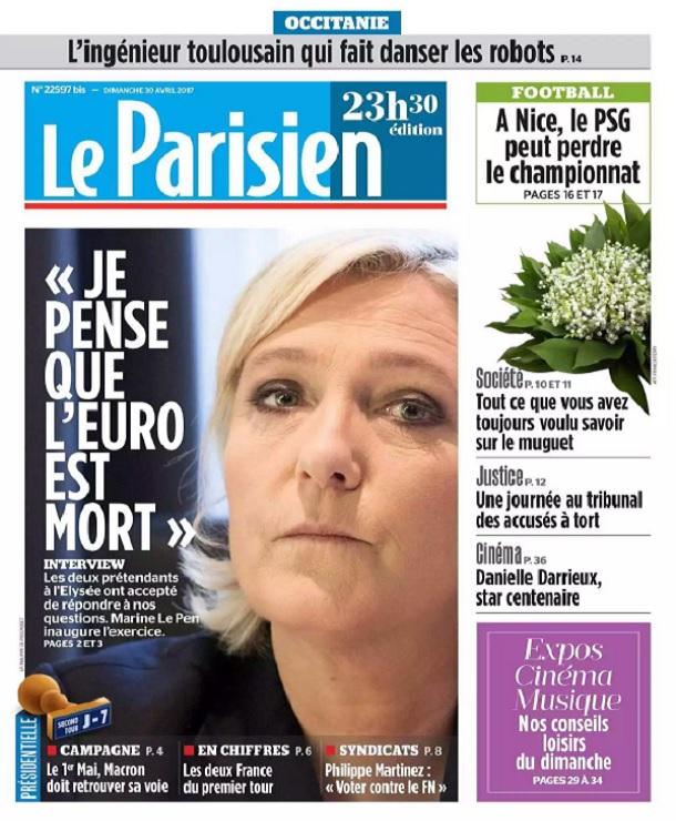 télécharger Le Parisien Du Dimanche 30 Avril 2017