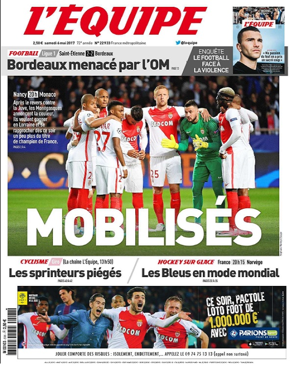 télécharger L'Equipe Du Samedi 6 Mai 2017