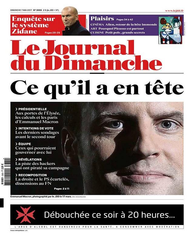 télécharger Le Journal Du Dimanche N°3669 Du 7 Mai 2017