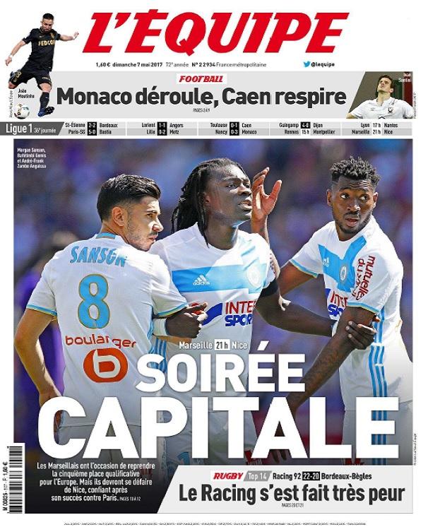 télécharger L'Equipe Du Dimanche 7 Mai 2017
