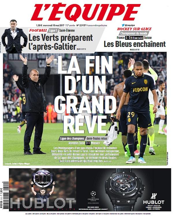 télécharger L'Equipe Du Mercredi 10 Mai 2017