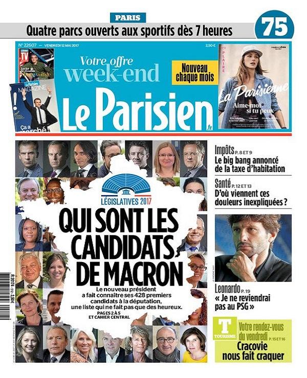 télécharger Le Parisien + Magazine + Journal De Paris Du Vendredi 12 Mai 2017