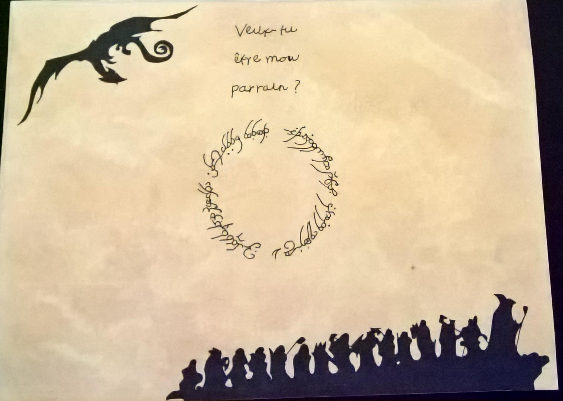 Demande parrain/marraine thème le hobbit - contrat de bilbon 17051501474991490