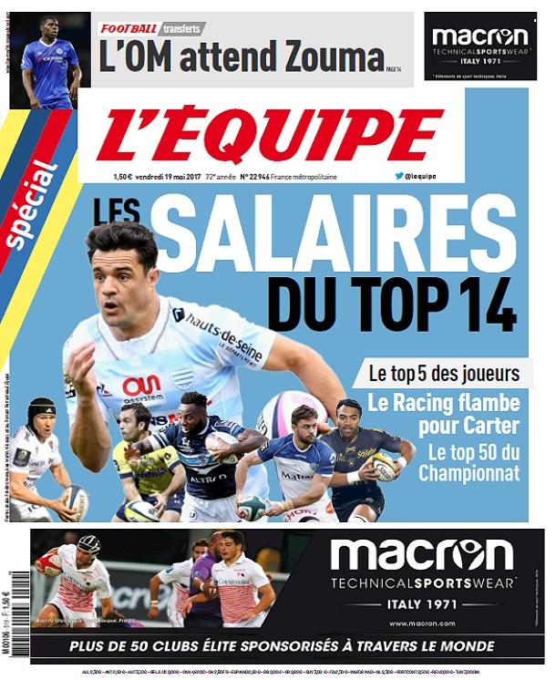 télécharger L'Equipe Du Vendredi 19 Mai 2017