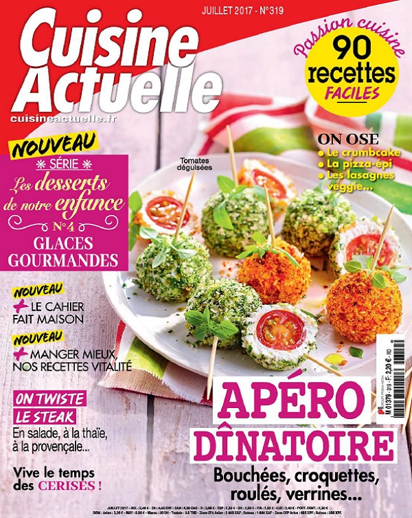 télécharger Cuisine Actuelle N°319 - Juillet 2017