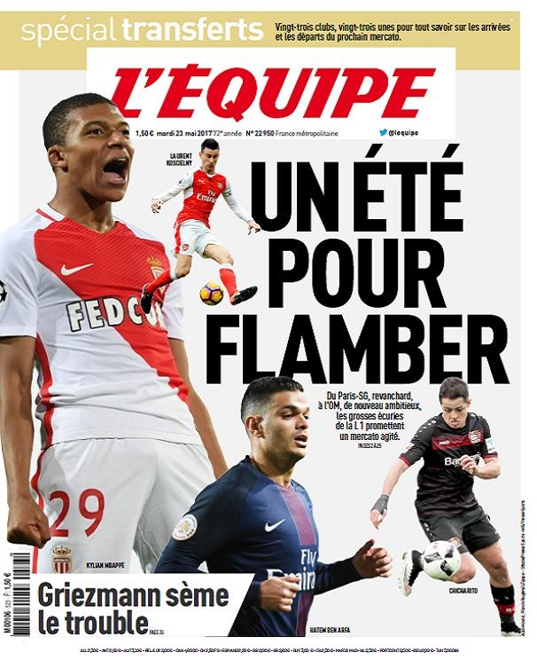 télécharger L'Equipe Du Mardi 23 Mai 2017