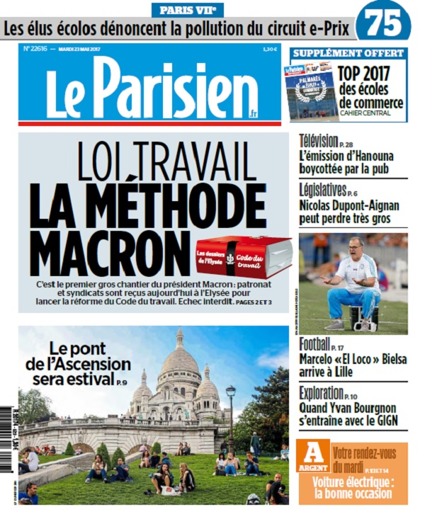 Le Parisien + Journal De Paris Du Mardi 23 Mai 2017