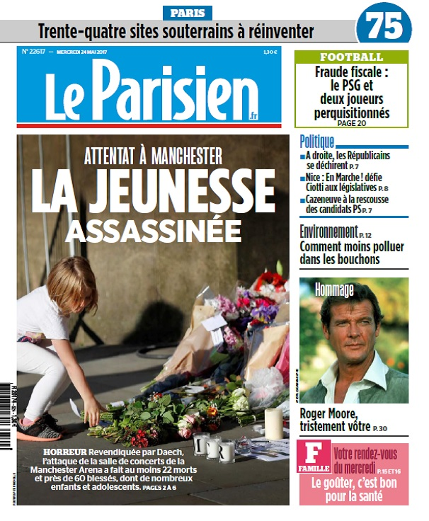Le Parisien + Journal De Paris Du Mercredi 24 Mai 2017