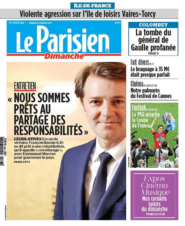 télécharger Le Parisien + Ile De France Du Dimanche 28 Mai 2017