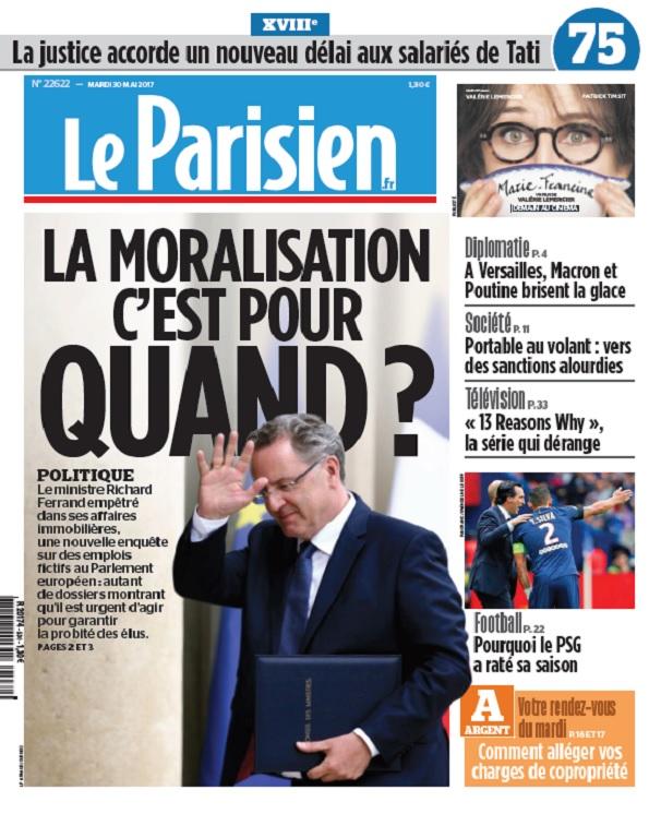 télécharger Le Parisien Du Mardi 30 Mai 2017