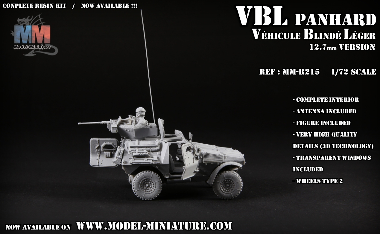 vbl panhard ehicule blinde leger maquette scale 1.72 12.7mm model reduit