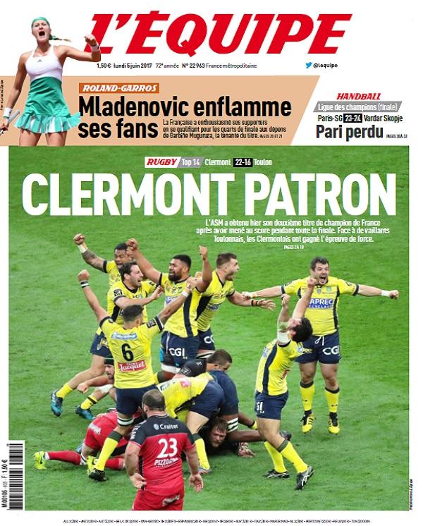 télécharger L'Equipe Du Lundi 5 Juin 2017