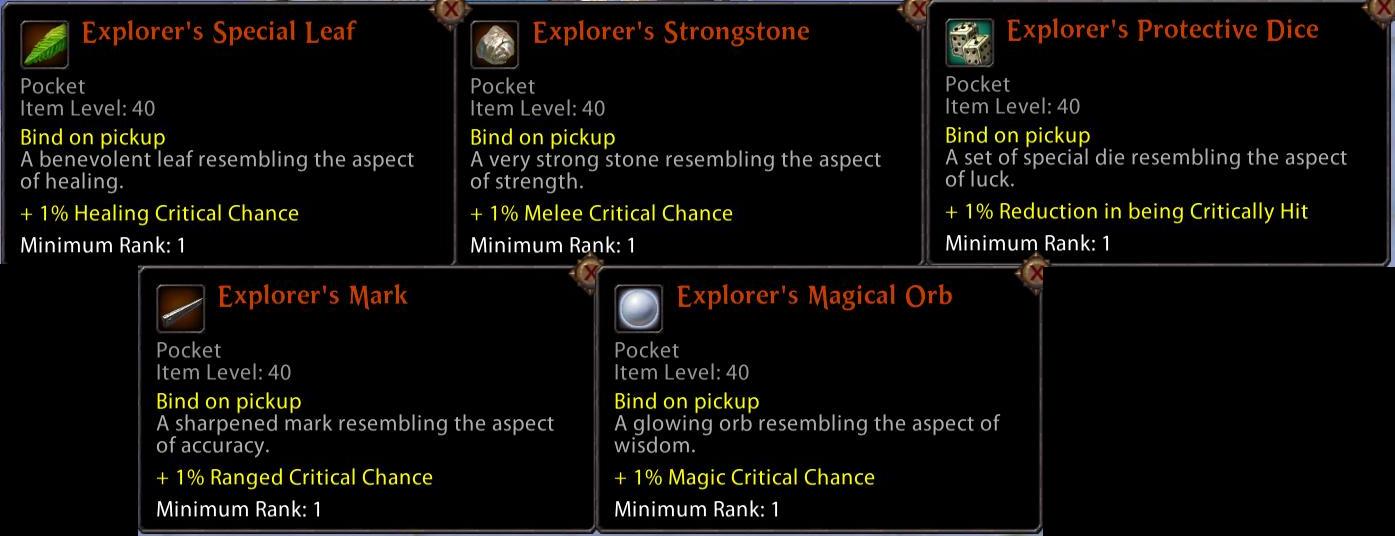 Event Pocket Items