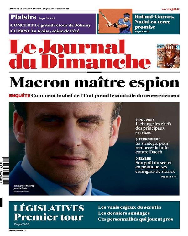 télécharger Le Journal Du Dimanche N°3674 Du 11 Juin 2017