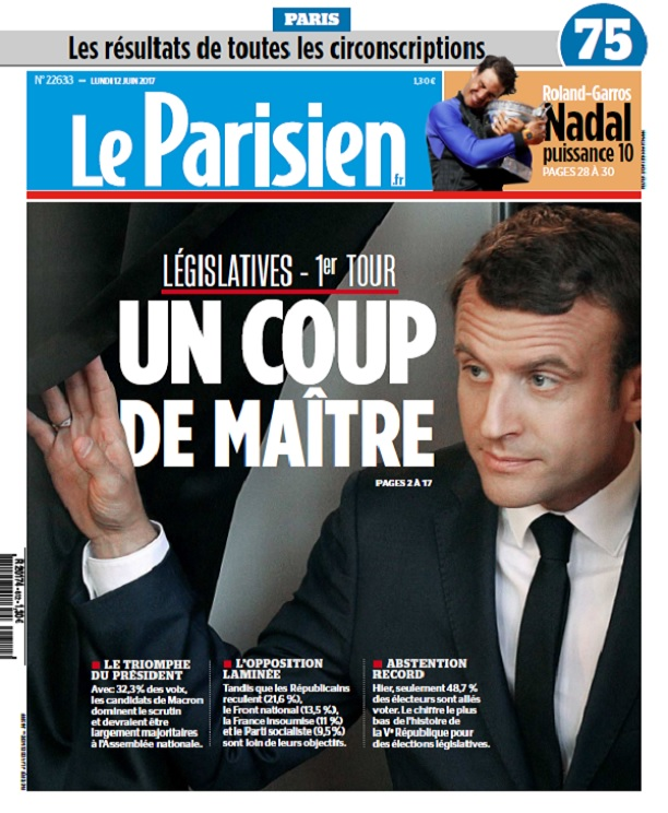 télécharger Le Parisien + Supplément Législatives Du Lundi 12 Juin 2017