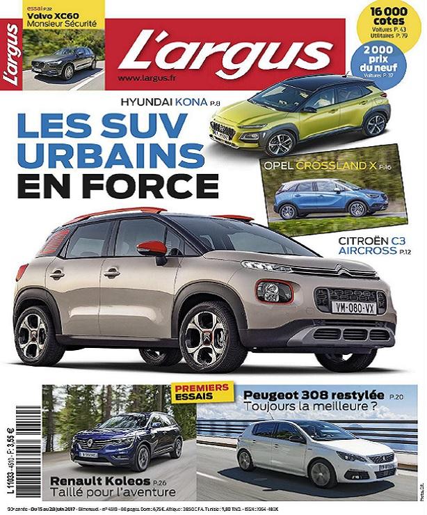 télécharger L'Argus N°4510 Du 15 au 28 Juin 2017