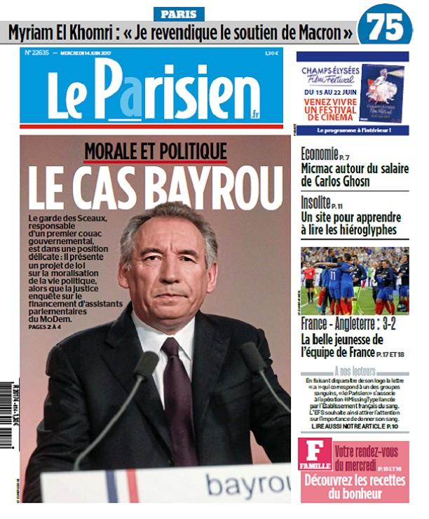 télécharger Le Parisien + Journal De Paris Du Mercredi 14 Juin 2017