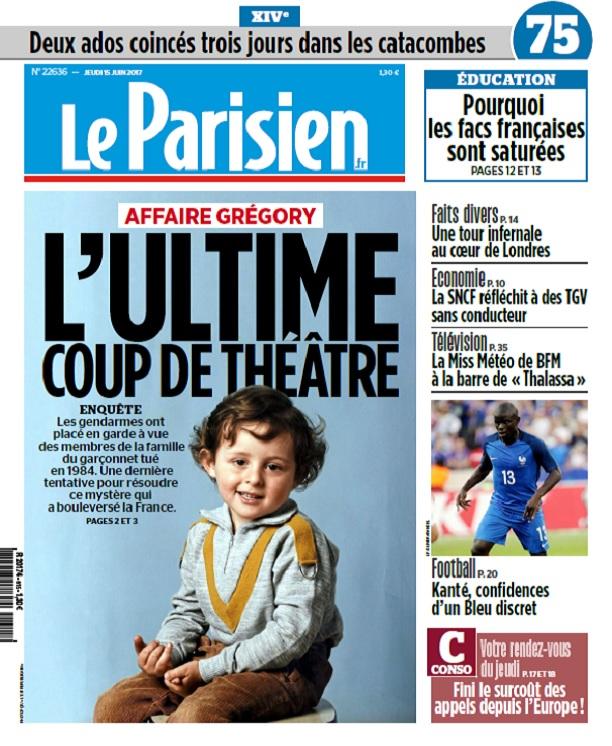 télécharger Le Parisien + Journal De Paris Du Jeudi 15 Juin 2017