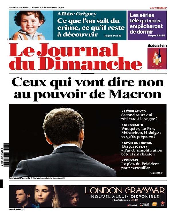 télécharger Le Journal Du Dimanche N°3675 Du 18 Juin 2017