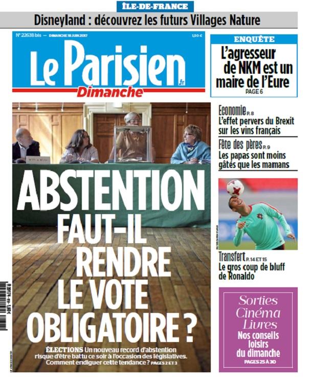 télécharger Le Parisien Du Dimanche 18 Juin 2017